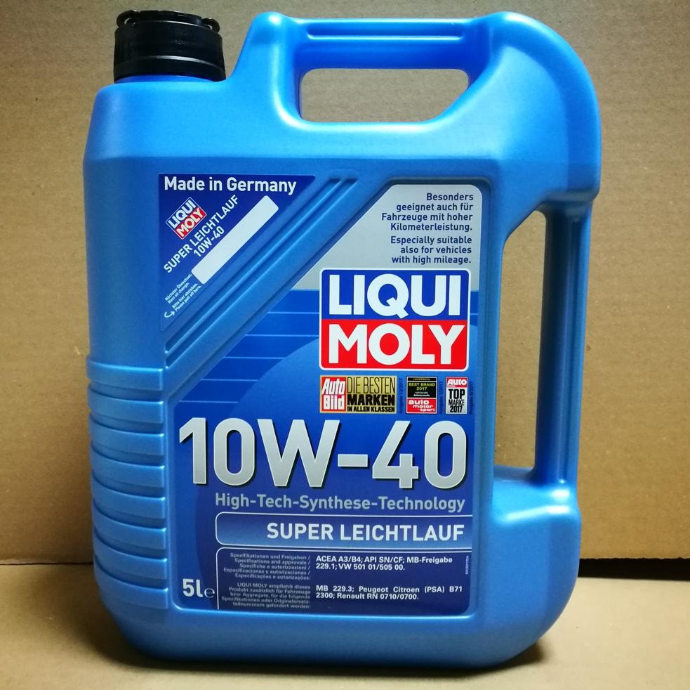liqui moly super leichtlauf 10w 40 2654 5l oil mag. Black Bedroom Furniture Sets. Home Design Ideas